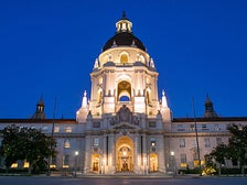 Pasadena City Hall at dusk