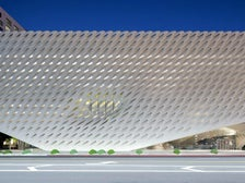 The Broad museum, exterior view on Grand Avenue