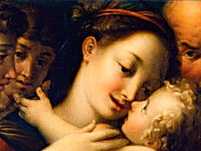"""The Holy Family with Two Angels"" from ""Vatican Splendors"" at the Reagan Library"