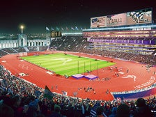 Rendering of Los Angeles Memorial Coliseum by LA 2014