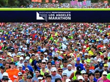 Los Angeles Marathon starting line