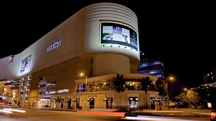 Beverly Center at night