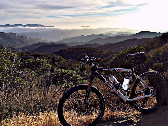 Mountain bike at Topanga State Park