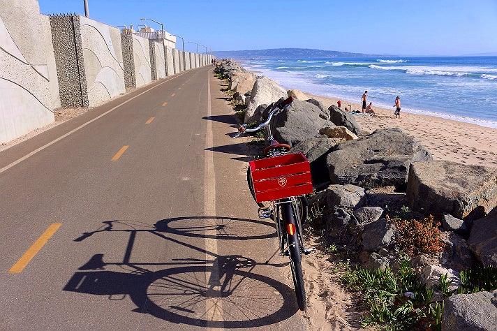The Marvin Braude Bike Trail near Dockweiler State Beach