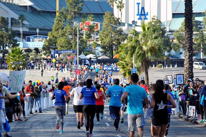 LA Big 5K finish line