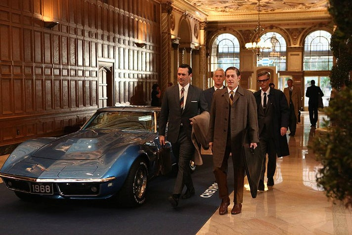 """The Galleria at the Millennium Biltmore stands in for the Chevrolet lobby in the """"Mad Men"""" Season 6 episode, """"For Immediate Release."""""""