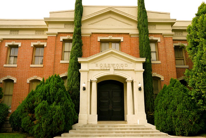"Rosewood City Hall / Police Department in ""Pretty Little Liars"" at Warner Bros. Studio"