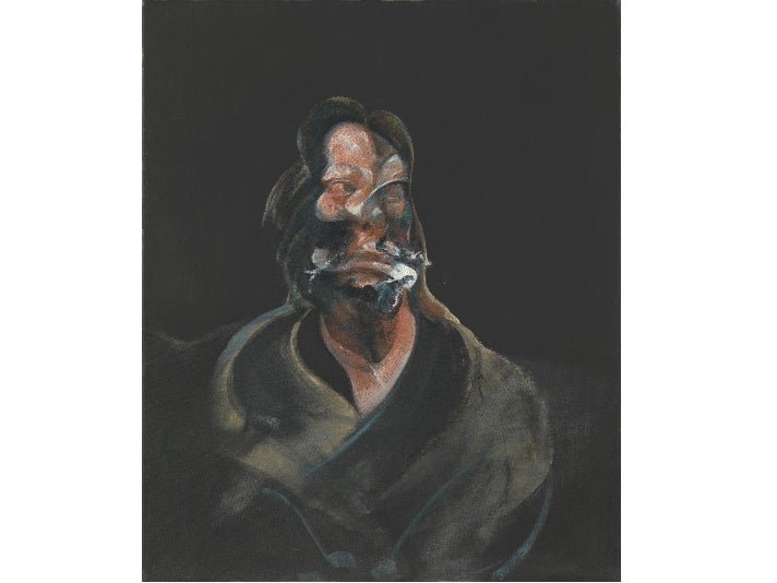 """""""Portrait of Isabel Rawsthorne,"""" 1966, by Francis Bacon at the Getty Center"""