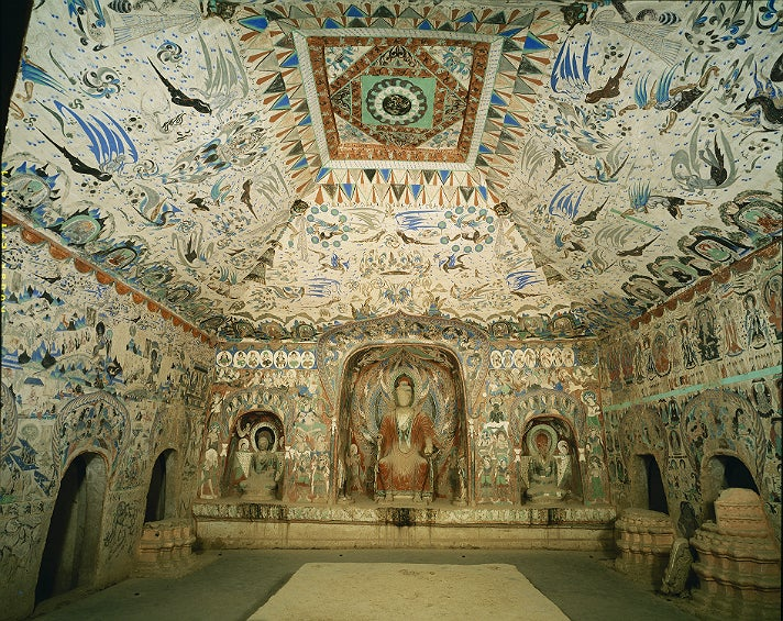 """Cave 285, interior view from """"Caves of Dunhuang"""" at the Getty Center"""
