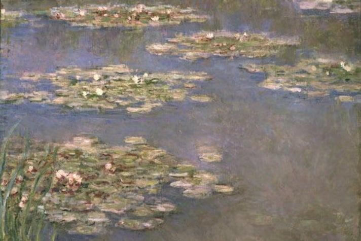 "Claude Monet, ""Nymphéas,"" 1905 (detail) at LACMA"