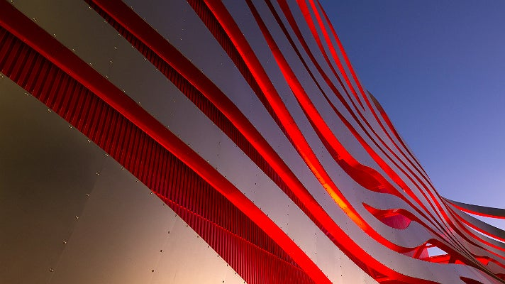 Steel ribbons at Petersen Automotive Museum