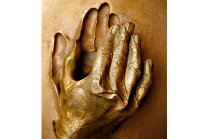 """Cast of the Hand of Blessed John Paul II"" from ""Vatican Splendors"" at the Reagan Library"