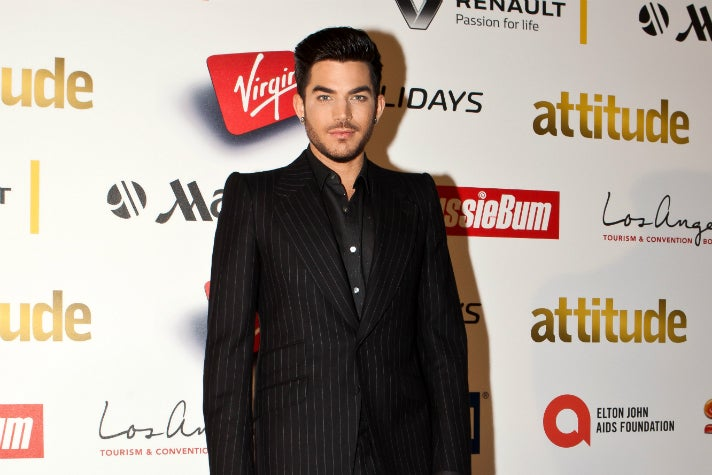 Adam Lambert on the red carpet at the 2015 Attitude Awards