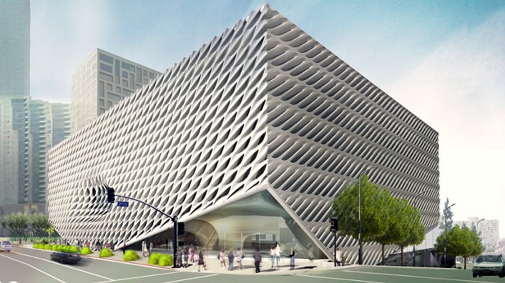 Rendering of The Broad museum exterior