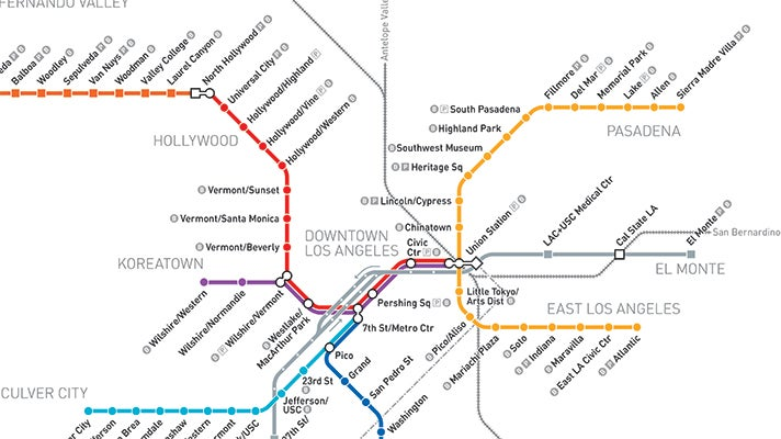 Hollywood Subway Map