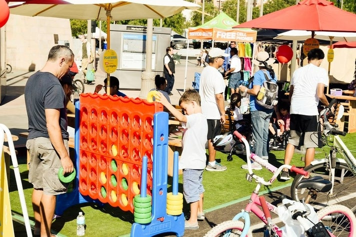 Play Zone at CicLAvia: Heart of L.A.