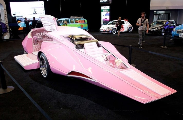 The Pink Panthermobile at Galpin Hall of Customs