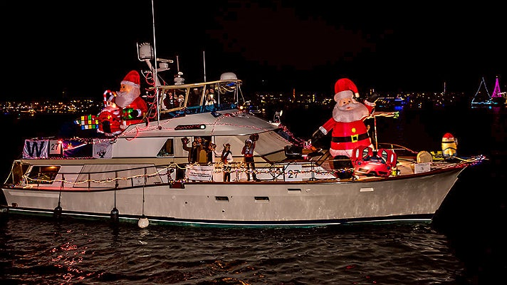 Marina Yacht Club at Marina del Rey Holiday Boat Parade