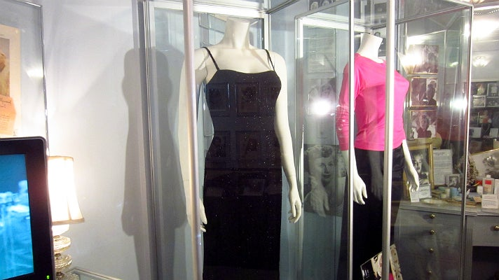 Marilyn Monroe's honeymoon dress at the Hollywood Museum