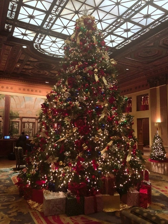 Christmas Tree in the lobby of the Millennium Biltmore