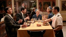 """Don and Sal have dinner from """"Mad Men"""" Season Three"""