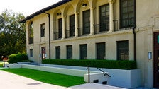 """East side of Occidental's Johnson Student Center and Freeman College Union from """"Clueless"""""""