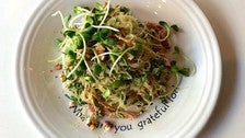 "Cafe Gratitude ""Terrific"" pad thai kelp noodles"