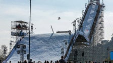 """""""Big Air"""" snowboarding competition at the inaugural Air + Style Los Angeles"""