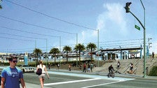 Rendering of Metro Expo Line - Downtown Santa Monica Station