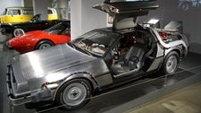 "DeLorean Time Machine from ""Back to the Future"" at Petersen Automotive Museum"