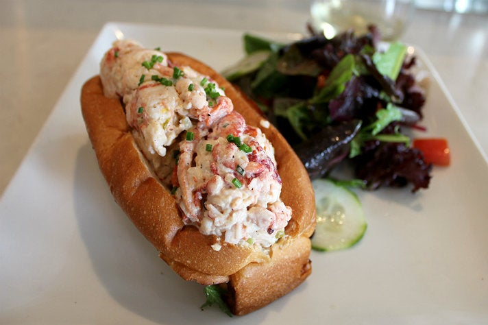 Lobster roll at Blue Plate Oysterette