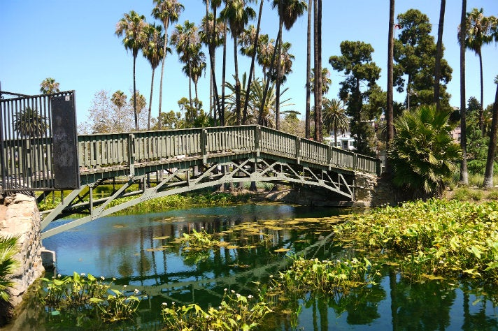 Bridge at Echo Park Lake