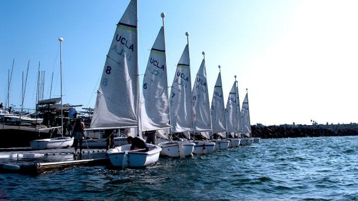 Sailboats at UCLA Marina Aquatic Center