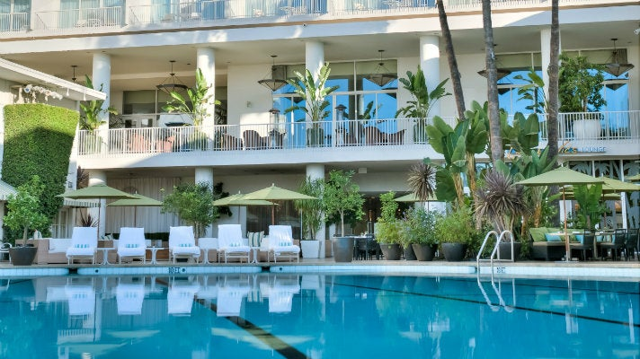 Pool at Beverly Hilton Hotel