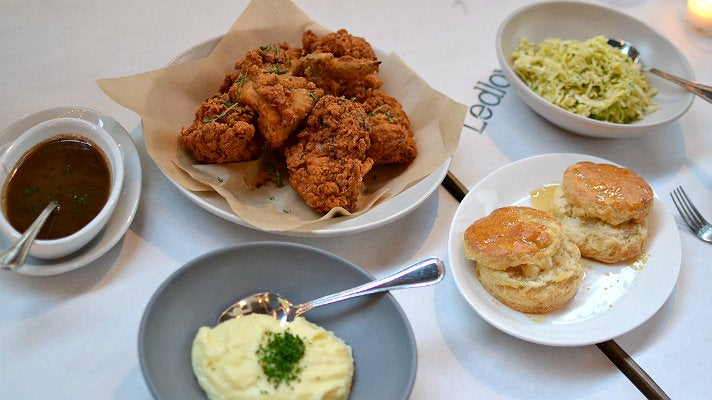 Fried chicken at Ledlow