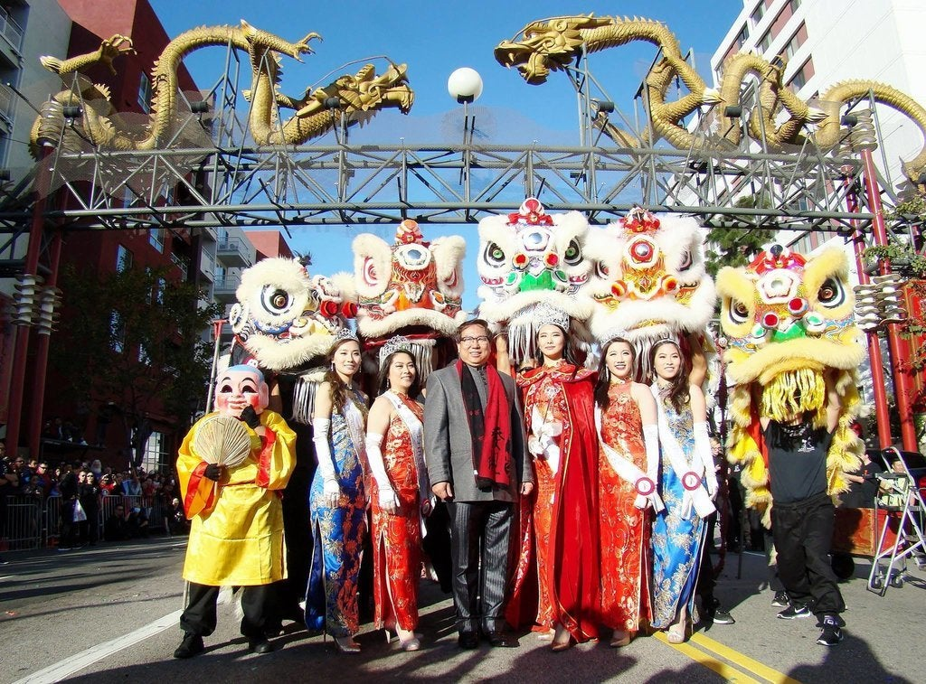 Golden Dragon Parade in Chinatown