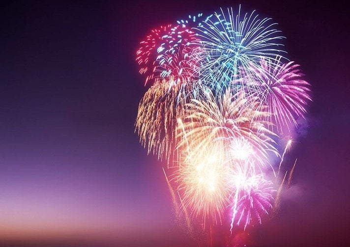 Fourth of July fireworks at Marina del Rey