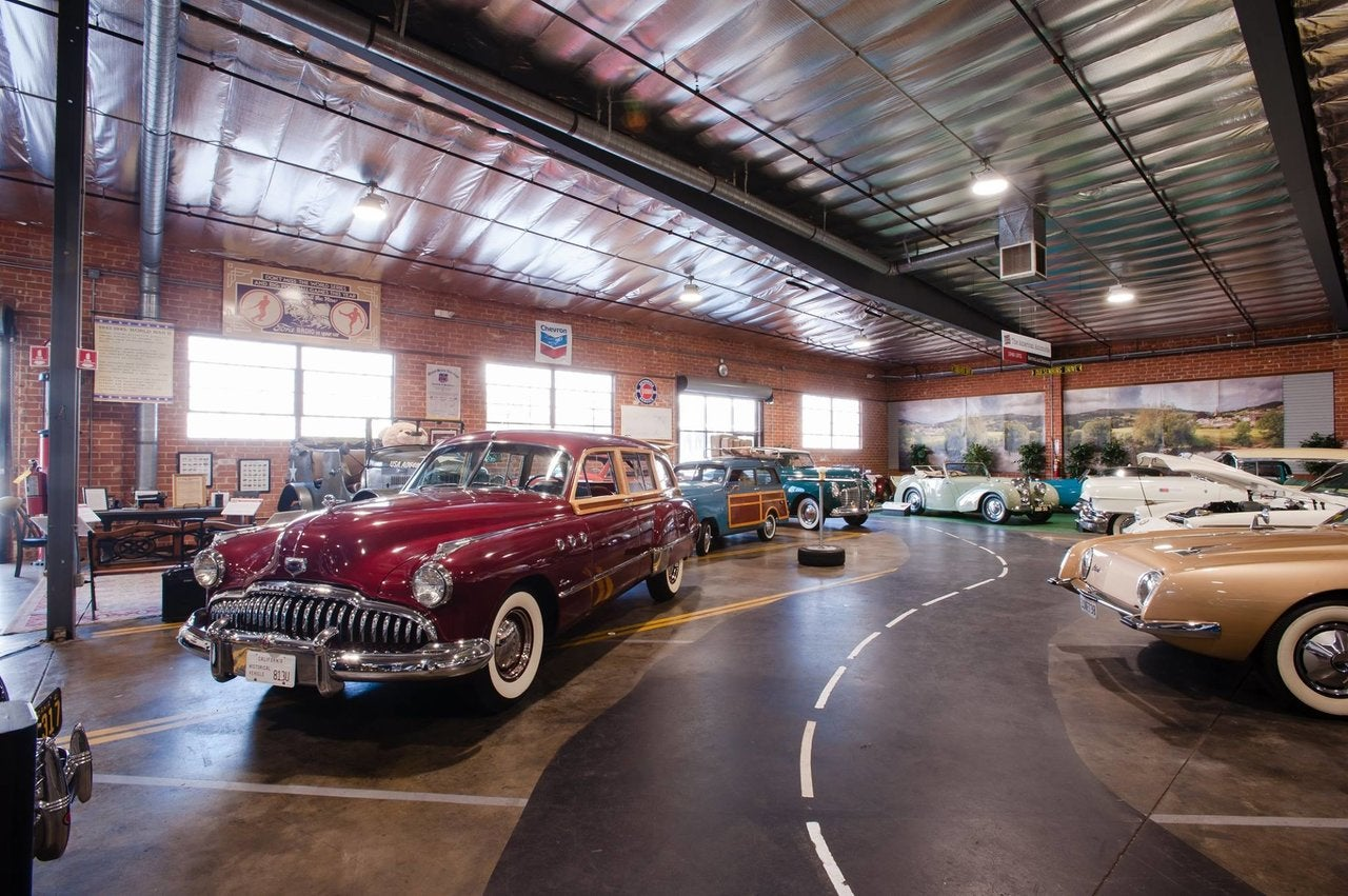 Showroom at the Automobile Driving Museum