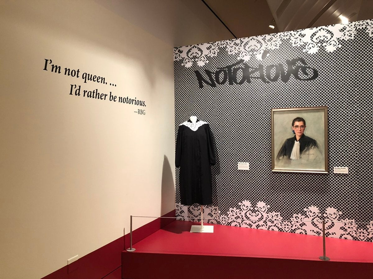 """Entrance to """"Notorious RBG"""" at the Skirball Cultural Center"""